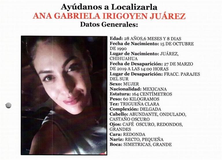 Resultado de imagen para Ana Gabriela Irigoyen Juárez